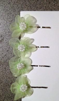 Mini Flowerettes on clips. $10.00